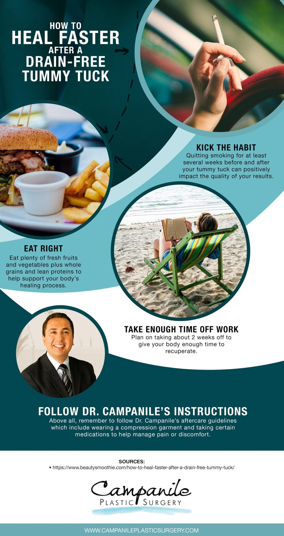 , How to Heal Faster After a Drain-Free Tummy Tuck [Infographic]
